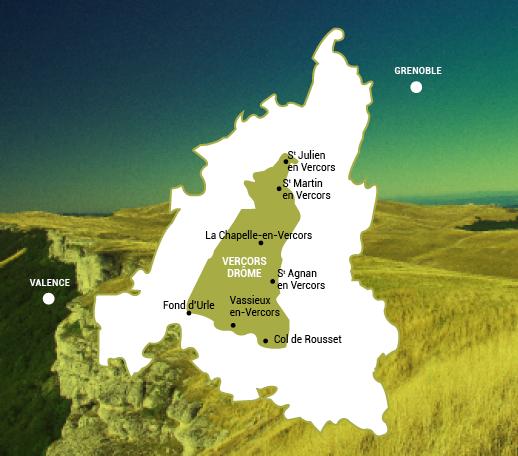 Carte Vercors Drôme